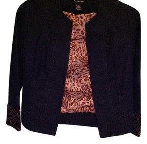 Focus Blue jeans with brown beads Jacket