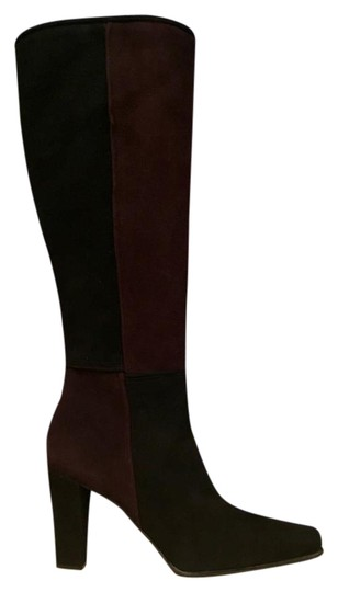 Stuart Weitzman Quadrant Color Two-tone black and brown Boots