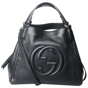6dfb65ad7b97 Added to Shopping Bag. Gucci Tote in Black. Gucci Soho Small Convertible  Black Leather Tote