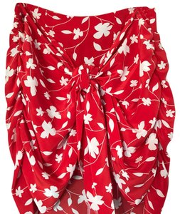 Amour Vert Mini Skirt red and white