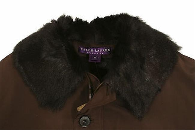 Ralph Lauren Label Silk Fur Bomber Browns Jacket