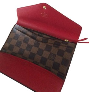 Louis Vuitton Louis Vuitton Josephine Wallet Damier Ebene Rouge