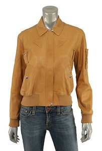 Ralph Lauren Label Leather Bomber Jacket