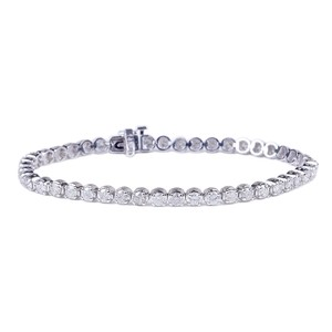 White Gold New Fine Round Cut Diamond 45-stone Tennis 5.07ct Bracelet
