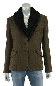 Ralph Lauren Ralph Lauren Purple Label Wool Tweed Shearling Blazer Jacket
