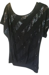 love rocks Top Black with shiny stripes