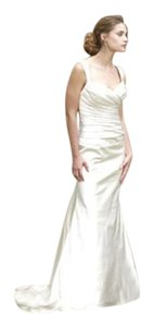 Paloma Blanca Natural Silk 3750/Mr129 Formal Wedding Dress Size 10 (M)