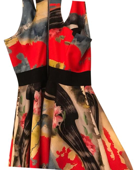 Item - Yellow Red - Colorful (Color Splash) Short Cocktail Dress Size 4 (S)