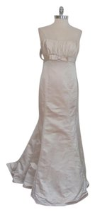 Paloma Blanca Pearl/Beige Silk 3856/Mr129a Formal Wedding Dress Size 10 (M)