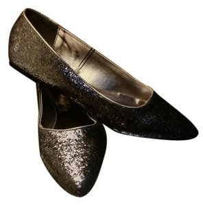 Lane Bryant New Sliver / Pewter glitter flats shoes 12w 12 wide