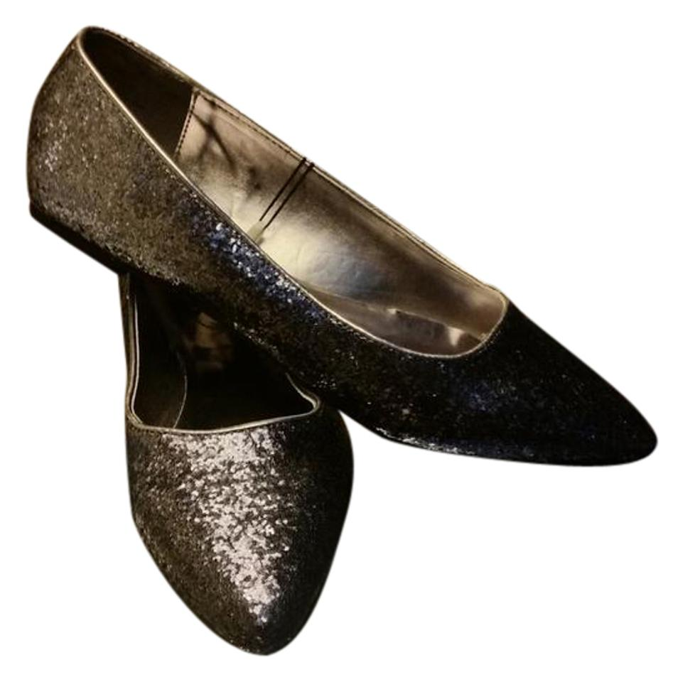 a7c36c2a282 Lane Bryant New Sliver   Pewter glitter flats shoes 12w 12 wide Image 0 ...