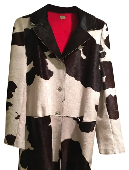 Item - Multicolor Calf Hair Cow Print Coat Size 12 (L)