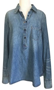 Macy's Button Down Shirt Blue
