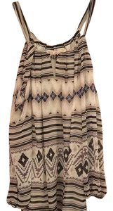 Chelsea & Violet Top tribal pattern, black, white, grey and blue
