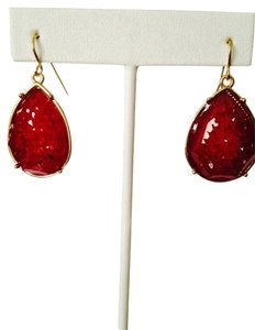 2 B Rych Gold-Tone Red Jelly Earrings