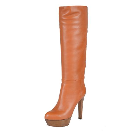 Sergio Rossi Brown Leather High Heel
