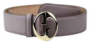 Gucci Purple Leather Belt w/Gold Interlocking G Buckle 90/36 362728 5311