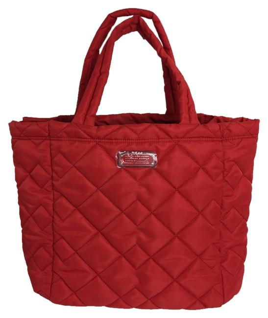 Item - Bag Crosby Quilted Rosey Red Nylon Tote