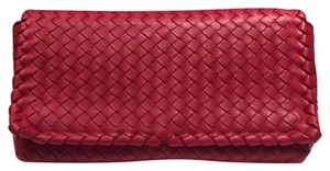 Bottega Veneta China Red Clutch