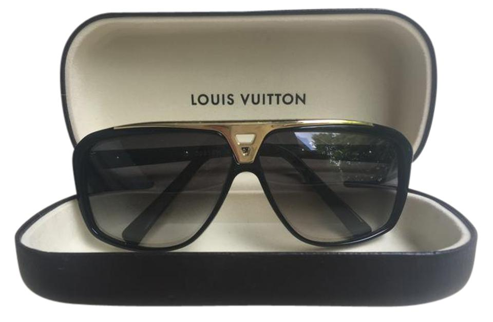 e4345b5dc8d Louis Vuitton Black and Gold Evidence Z0350w Sunglasses - Tradesy