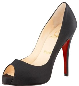 Christian Louboutin Black with Red Soles Platforms