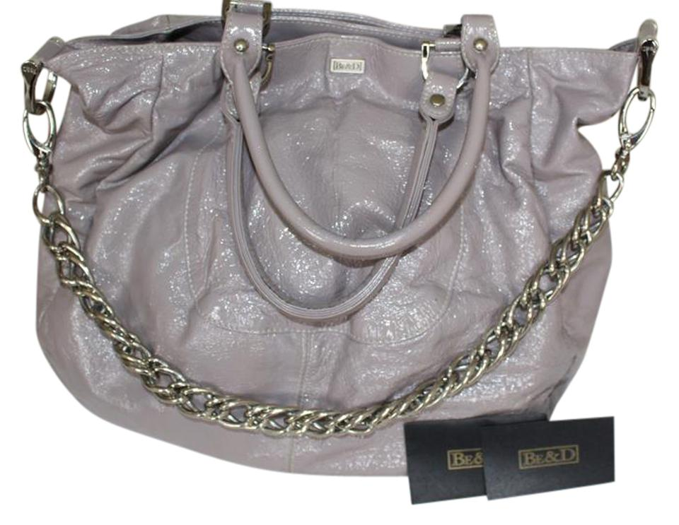 549c2c54f7 Be D Bowery Slouchy Soft Patent Grey - Lilac Leather Hobo Bag - Tradesy