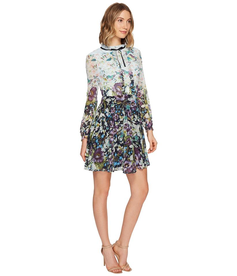 Ted Baker Dark Blue Meelia Entangled Enchantment Long Sleeved ...