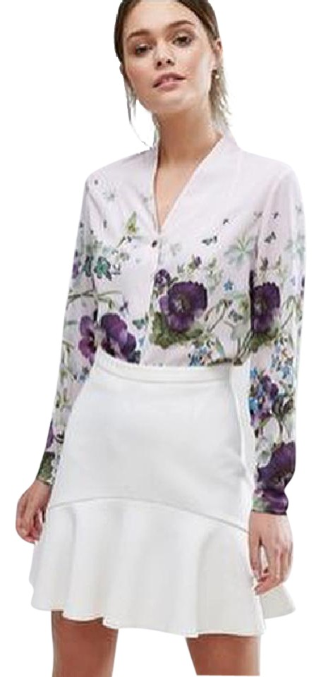 b0952748562f0 Ted Baker Baby Pink Elizay Entangled Enchantment Blouse Button-down ...