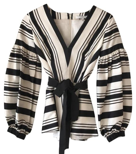 Item - Sienna Balloon Black and White Top
