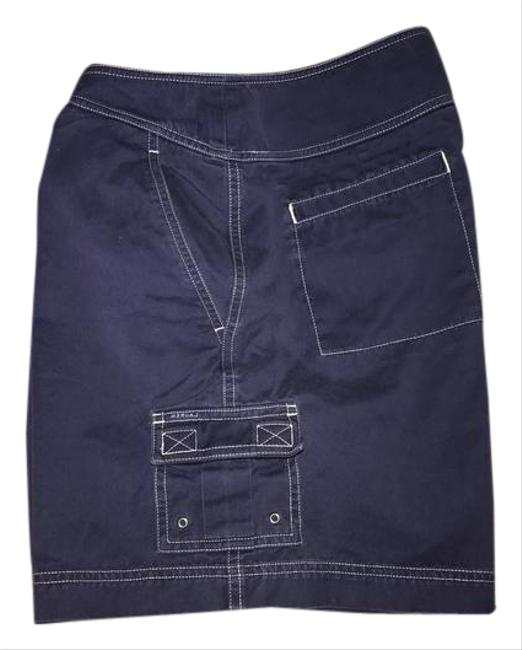 Item - Navy with White Trim Nautical Style Shorts Size 12 (L, 32, 33)