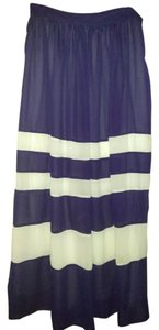 Sunday in Brooklyn Maxi Skirt Midnight blue white