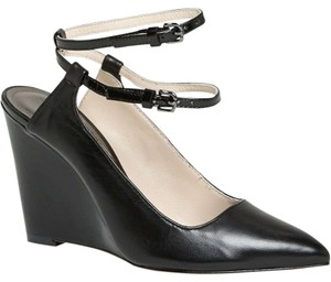 Coach Ollie Leather Black Wedges