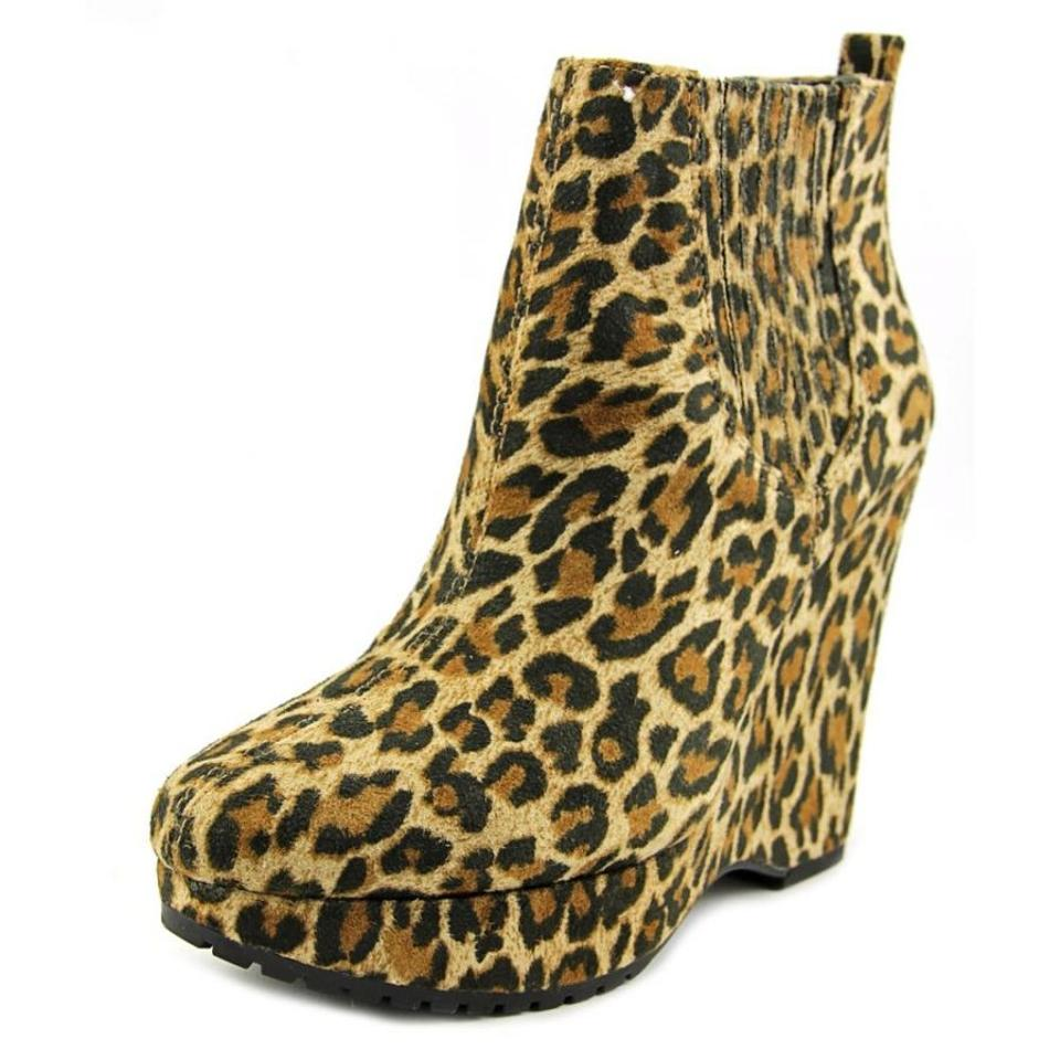 ad5068b376cb BCBGeneration Wedge Suede Animal Print Platform Leopard/ cheetah Boots  Image 0 ...