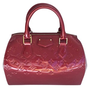 Louis Vuitton Montana Boston Monogram Vernis Stock011840 Satchel in Red