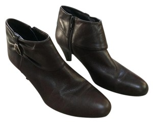 Michelle D Ankle Leather Brown Boots