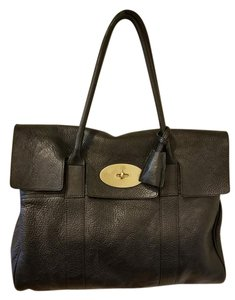 19f34afbd6c8 Added to Shopping Bag. Mulberry Leather Pebbled Satchel in Black Small  Classic Grain
