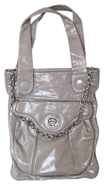 Item - Turnknob with Chain Mouse Grey (Taupe) Patent Leather Hobo Bag
