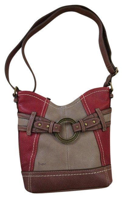 Item - Style Number: Boc702-bur-sg Burgundy Faux Leather Tote