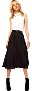 Lands' End Pleated Midi Midi Pleated Skirt Black