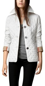 Burberry Quilted Icon Timeless white Jacket