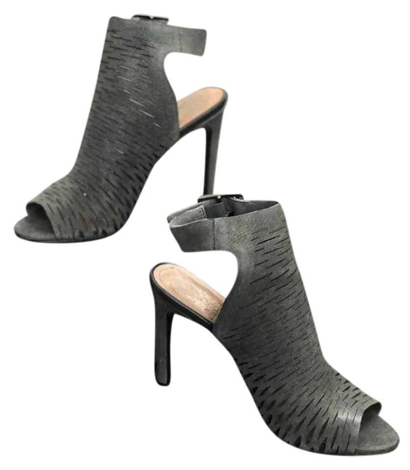 afd70cab59fe Vince Camuto Slingback Leather Open Toe Grey Boots Image 0 ...