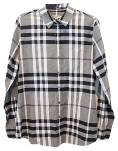 Burberry London Button Down Shirt Gray
