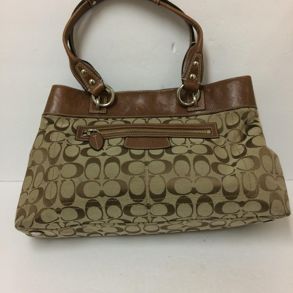 b0fe338d3e Coach Signature Penelope Satchel Brown Fabric and Leather Tote - Tradesy