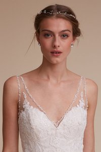 BHLDN Gold Short Twinkling Pearl Vine Bridal Veil