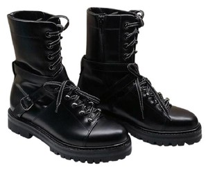 Valentino Mens Combat Mens Combat Combat Mens Rockstud Black Boots