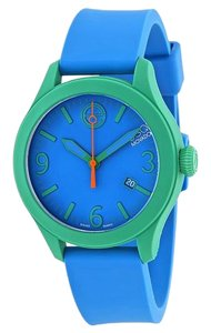 ESQ ESQ07301465 Unisex Blue Silicone Bracelet With Blue Analog Dial Watch