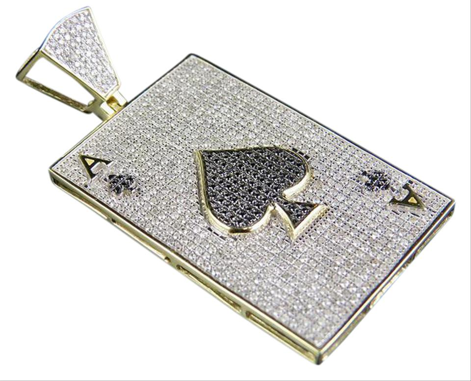 Jewelry unlimited 10k yellow gold mens genuine diamond iced ace jewelry unlimited mens 10k yellow gold genuine diamond iced ace spade pendant charm 1 3 aloadofball Image collections