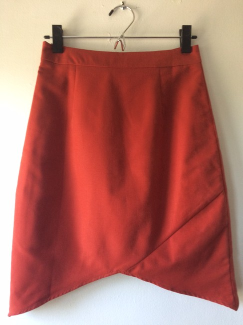 Line & Dot Skirt Orange
