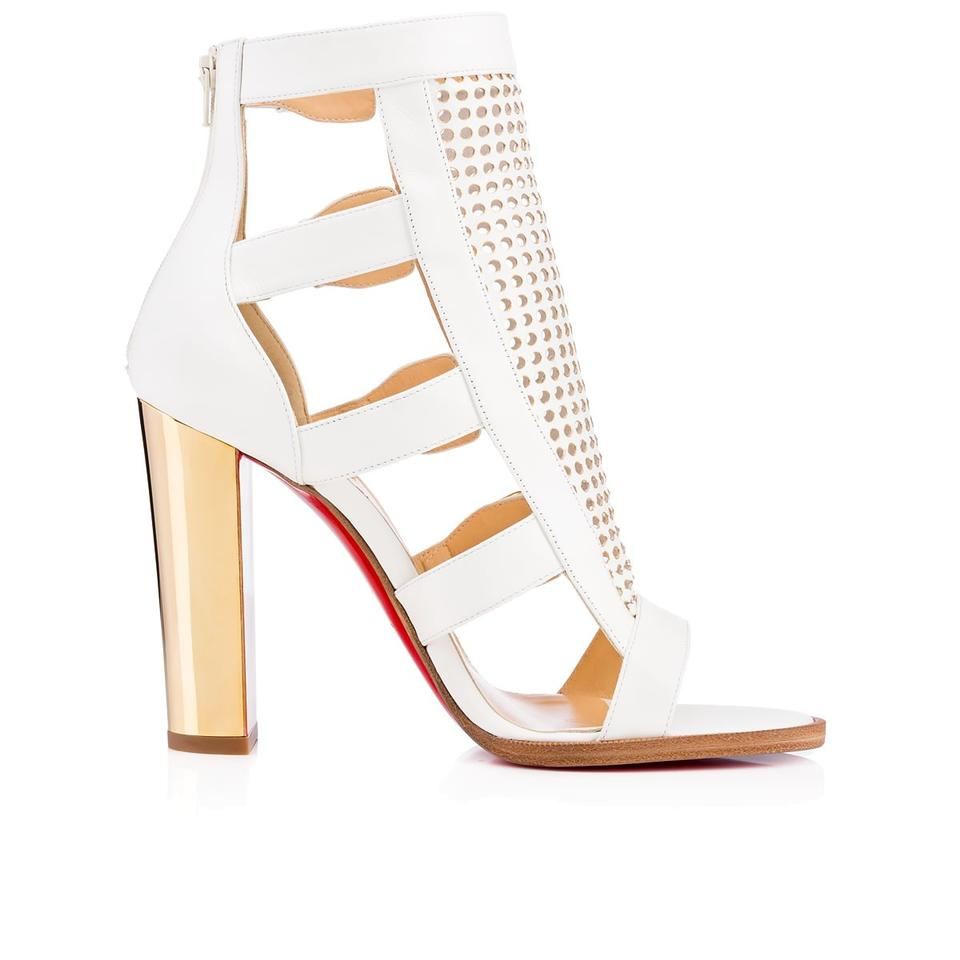 Christian Louboutin White New Fencing Sandals Perforated Red Sole 41 Sandals Fencing cef28a