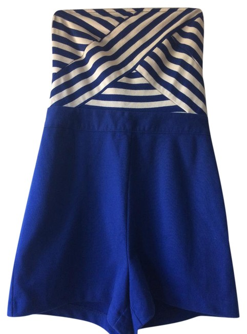 Preload https://item3.tradesy.com/images/cooperative-blue-and-cream-short-romperjumpsuit-size-4-s-21677712-0-1.jpg?width=400&height=650